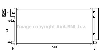 Condenseur / Radiateur de climatisation AVA QUALITY COOLING OL5634D (X1)