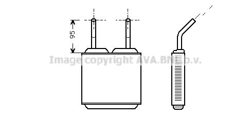 Radiateur de chauffage AVA QUALITY COOLING OL6160 (X1)