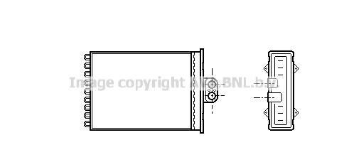 Radiateur de chauffage AVA QUALITY COOLING OL6217 (X1)