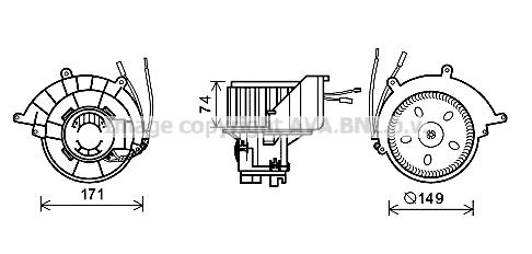 Moteur de ventilateur de chauffage AVA QUALITY COOLING OL8629 (X1)