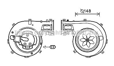 Moteur de ventilateur de chauffage AVA QUALITY COOLING OL8630 (X1)