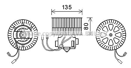 Moteur de ventilateur de chauffage AVA QUALITY COOLING OL8631 (X1)