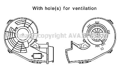Moteur de ventilateur de chauffage AVA QUALITY COOLING OL8642 (X1)