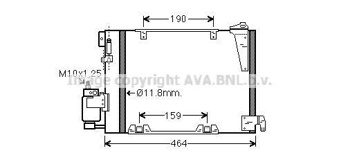 Condenseur / Radiateur de climatisation AVA QUALITY COOLING OLA5250D (X1)