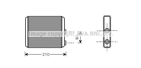 Radiateur de chauffage AVA QUALITY COOLING OLA6353 (X1)