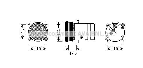 Compresseur AVA QUALITY COOLING OLAK493 (X1)
