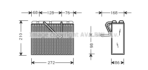 Evaporateur AVA QUALITY COOLING OLV300 (X1)