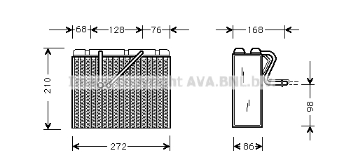 Evaporateur AVA QUALITY COOLING OLV301 (X1)