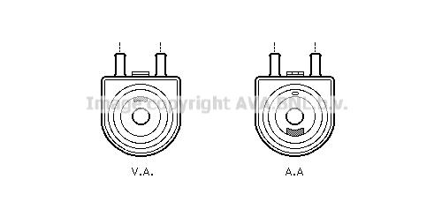 Radiateur huile AVA QUALITY COOLING PE3285 (X1)