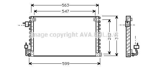 Condenseur / Radiateur de climatisation AVA QUALITY COOLING PE5180 (X1)