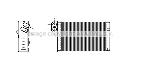 Radiateur de chauffage AVA QUALITY COOLING PE6015 (X1)