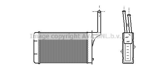 Radiateur de chauffage AVA QUALITY COOLING PE6049 (X1)