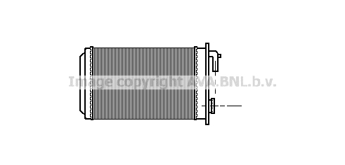 Radiateur de chauffage AVA QUALITY COOLING PE6087 (X1)