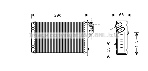 Radiateur de chauffage AVA QUALITY COOLING PE6100 (X1)