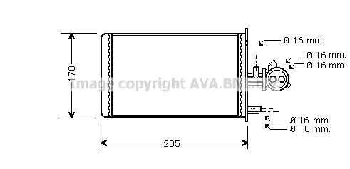 Chauffage AVA QUALITY COOLING PE6173 (X1)