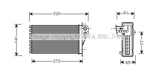 Radiateur de chauffage AVA QUALITY COOLING PE6199 (X1)