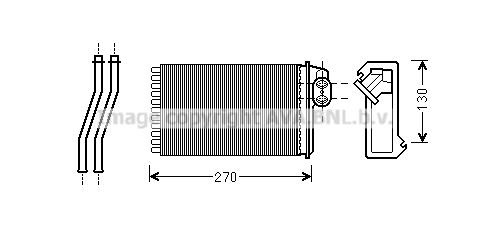 Radiateur de chauffage AVA QUALITY COOLING PE6340 (X1)