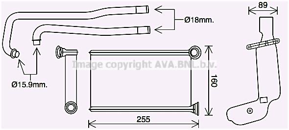 Radiateur de chauffage AVA QUALITY COOLING PE6416 (X1)