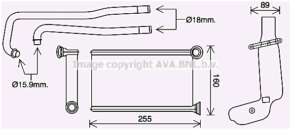 Radiateur de chauffage AVA QUALITY COOLING PE6419 (X1)