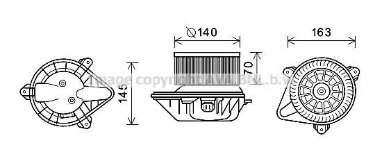 Moteur de ventilateur de chauffage AVA QUALITY COOLING PE8375 (X1)