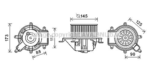 Moteur de ventilateur de chauffage AVA QUALITY COOLING PE8390 (X1)