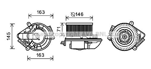 Moteur de ventilateur de chauffage AVA QUALITY COOLING PE8504 (X1)