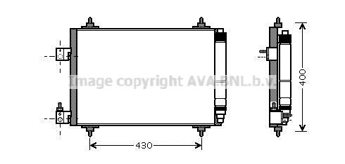 Condenseur / Radiateur de climatisation AVA QUALITY COOLING PEA5286D (X1)