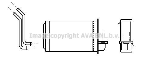 Radiateur de chauffage AVA QUALITY COOLING PEA6088 (X1)