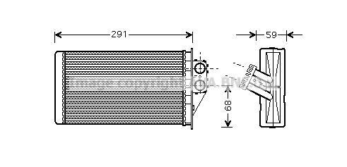 Radiateur de chauffage AVA QUALITY COOLING PEA6228 (X1)