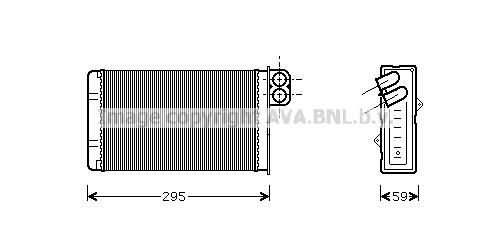 Radiateur de chauffage AVA QUALITY COOLING PEA6240 (X1)