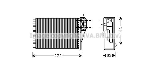 Radiateur de chauffage AVA QUALITY COOLING PEA6292 (X1)
