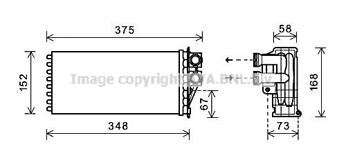 Radiateur de chauffage AVA QUALITY COOLING PEA6359 (X1)