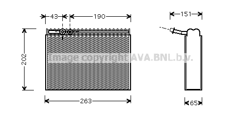 Evaporateur AVA QUALITY COOLING PEV062 (X1)