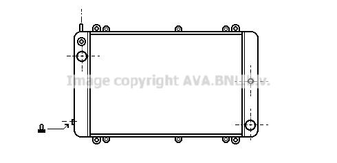 Radiateur de refroidissement AVA QUALITY COOLING PR2001 (X1)