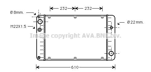 Radiateur de refroidissement AVA QUALITY COOLING PR2004 (X1)