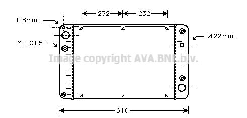 Radiateur de refroidissement AVA QUALITY COOLING PR2005 (X1)