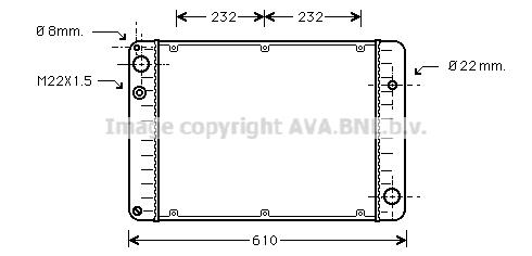 Radiateur de refroidissement AVA QUALITY COOLING PR2006 (X1)