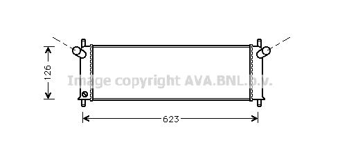 Radiateur de refroidissement AVA QUALITY COOLING PR2022 (X1)