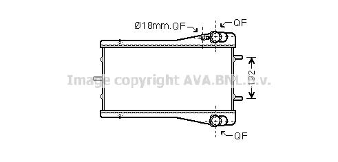 Radiateur de refroidissement AVA QUALITY COOLING PR2044 (X1)
