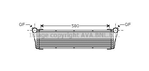 Radiateur de refroidissement AVA QUALITY COOLING PR2053 (X1)