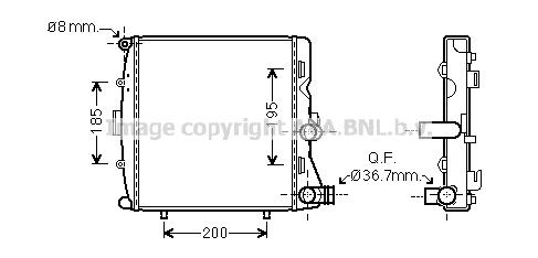 Radiateur de refroidissement AVA QUALITY COOLING PR2054 (X1)