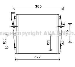 Radiateur de refroidissement AVA QUALITY COOLING PR2066 (X1)
