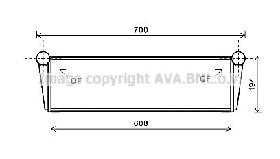 Radiateur de refroidissement AVA QUALITY COOLING PR2067 (X1)