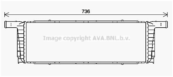 Radiateur de refroidissement AVA QUALITY COOLING PR2093 (X1)