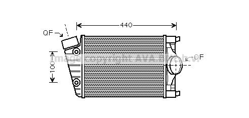 Intercooler radiateur de turbo AVA QUALITY COOLING PR4046 (X1)