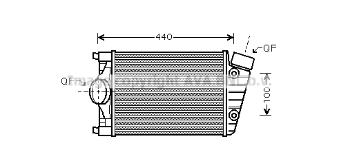 Intercooler radiateur de turbo AVA QUALITY COOLING PR4047 (X1)
