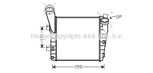 Intercooler radiateur de turbo AVA QUALITY COOLING PR4056 (X1)