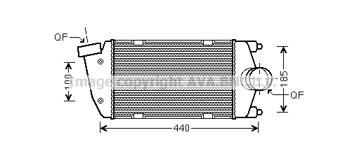 Intercooler radiateur de turbo AVA QUALITY COOLING PR4058 (X1)