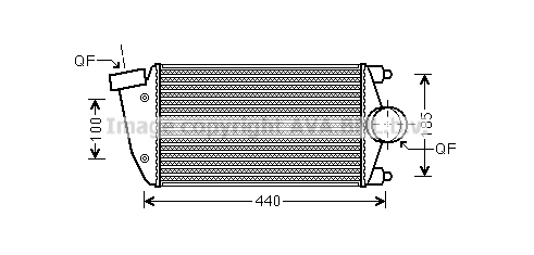 Intercooler radiateur de turbo AVA QUALITY COOLING PR4069 (X1)