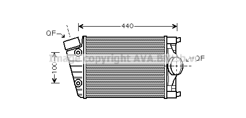 Intercooler radiateur de turbo AVA QUALITY COOLING PR4070 (X1)